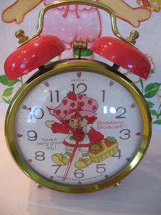 Vintage Strawberry Shortcake Clock by Bradley by luvbabycakes81, $18.99