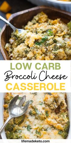 Low Carb Broccoli Cheese Casserole – a cheesy and comforting dish perfect for busy weeknights. Best of all, low carb, keto friendly and packed with broccoli, cheese, cauliflower rice, garlic and Parmesan. | best low carb casserole | broccoli cheddar casserole recipe | low carb dinner recipes | tasty low carb foods | best keto dinner recipes | best casserole recipes | healthy dinner recipes | best fall dinner recipes | how to make casserole | broccoli cheddar soup recipe Easy Delicious Dinner Recipes, Italian Dinner Recipes, Fall Dinner Recipes, Low Carb Dinner Recipes, Keto Dinner, Brunch Recipes, Diet Recipes, Beef Casserole Recipes, Vegetable Casserole