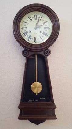THANK YOU for stopping by our listings here on Etsy!  You are viewing a completely original, professionally Restored Chiming Wall Clock model from Centurion Clock Co. This clock has been professionally serviced by our own in-house master clockmaker and it is certified to as-new mechanical condition. It is in flawless working order. The original mechanical clockworks have been removed, rebuilt to as-new condition & then reinstalled in the original case. FEATURES: • Original 31 - day, key…