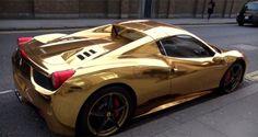 Gold Ferrari 458 Spi