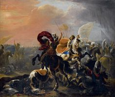 VINCENT ADRIAENSSEN LECKERBETIEN called IL MANCIOLA ( Antwerp 1595 - Rome 1675). BATTLE BETWEEN TURKS AND CHRISTIAN KNIGHTS. oil on canvas. 90 × 110 cm. Christie's. Milan. Palazzo Clerici. Old Master Pictures. 27/05/2010. Sale 2520. Lot 133. Estimate: 5.000/7.000 €. Price realized: 7.800 €.