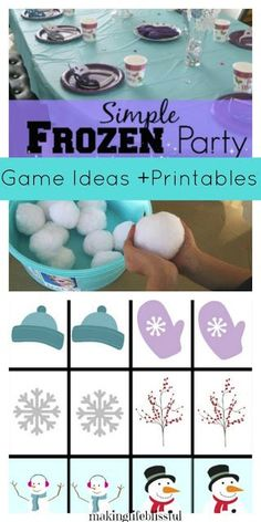 These are the most simple and realistic Frozen Party Games on the planet! Little prep and low budget Frozen party games and ideas for kids. Frozen Birthday Party Games, Disney Party Games, Frozen Tea Party, Slumber Party Games, Frozen 2, Birthday Activities, Kids Party Games, 2nd Birthday Parties, Frozen Movie