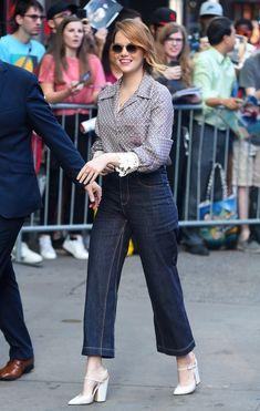 Emma Stone wearing F