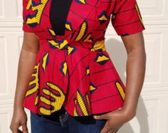 Toyo African Print Jacket// Affrican Jacket by Habbystitches African Dresses For Women, African Attire, African Wear, African Print Fashion, African Prints, Ankara Blouse, Ankara Jackets, Latest Fashion Dresses, Ankara Styles