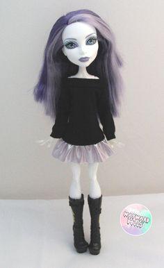 Slouchy Metallic Jumper Dress for Monster High by waywarddolls