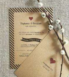 """Einladung """"Black Stripes No2"""" Vintage zur Hochzeit Black Stripes, Invitations, Vintage, Paper, Create Quotes, Walnut Burl, Invitation Text, Getting Married, Invitation"""