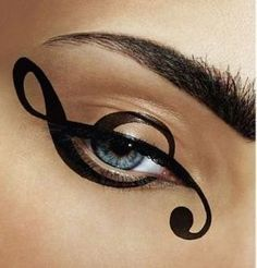 Treble clef eyeliner.