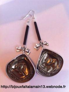 Boucles d'oreilles (argent925) avec capsules Nespresso - Petites annonces gratuites sur anibis.ch
