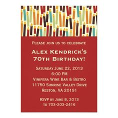 Birthday Candles - Red Invites