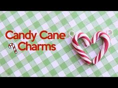 CANDY CANE CHARMS POLYMER CLAY TUTORIAL