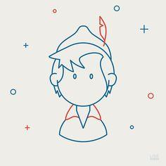 Personagens da cultura pop em ilustrações minimalistas - No projeto Line Dudes, a ilustradora Carina Czisch representa diversas personalidades da cultura pop em ilustrações minimalistas.