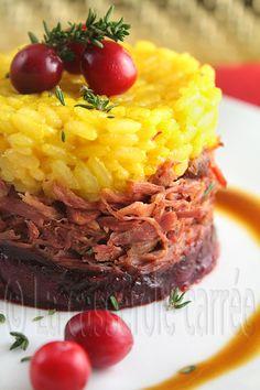 Absolument excellent!!! Confit de canard sur confit d'oignons avec risotto au safran