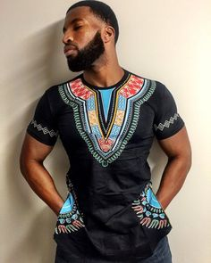Side Zipper Shirt with African Dashiki Designs | Marchal's Designs African Print in on-Trend Fashion