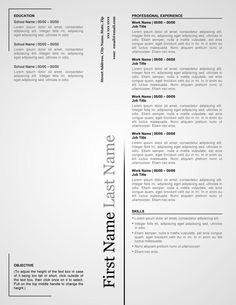 Micro Blog Resume Template  Creative Resumes For Download