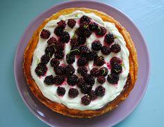 Taart en Zoet!: Cheesecake met limoen en bramen