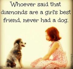 I'd rather have my dog than all the diamonds and jewels in the world!