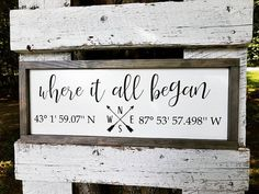 Just finished another best seller! Homemade Wedding Gifts, Homemade Signs, Coordinates Tattoo, Latitude And Longitude Coordinates, Painted Boards, Canvas Signs, Silhouette Cameo Projects, Wooden Signs, Rustic Signs