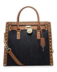 084cf5bc5f3f MICHAEL Michael Kors Hamilton Studded Canvas Tote. I need this bag!!!  Michael