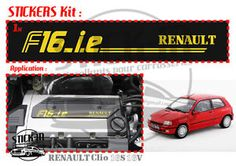 Renault Clio 16s 19 16 S Stickers Autocollant F16IE F16 I E Válvulas Valvers | eBay