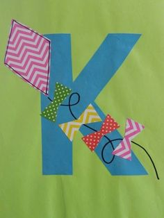 the vintage umbrella: Preschool Alphabet Projects. Letters I-P (do all the alphabet like this for classroom decor) Preschool Letter Crafts, Alphabet Letter Crafts, Abc Crafts, Preschool Projects, Preschool Literacy, Letter Art, Letter Tracing, Letter K Kite, Letter Recognition