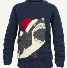 Christmas gifts ideas for and shark lovers - Shark jumper Grunge Look, 90s Grunge, Grunge Style, Grunge Outfits, Soft Grunge, Edgy Outfits, Christmas Sweater Dress, Ugly Xmas Sweater, Christmas Jumpers