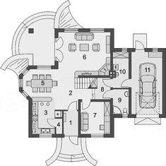 Projekt domu Gracjan 131,33 m2 - koszt budowy 249 tys. zł - EXTRADOM House Plans Mansion, Planer, Portal, Sweet Home, Villa, Floor Plans, House Design, How To Plan, Architecture