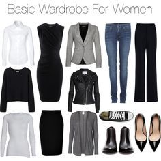 Basic Wardrobe For Women by isabelle-herzig on Polyvore featuring Alexander Wang, American Vintage, Vero Moda, Organic by John Patrick, Replay, TURNOVER, STELLA McCARTNEY, 7 For All Mankind, DKNY and Zara
