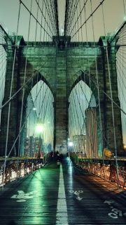 Brooklyn Bridge At Night New York