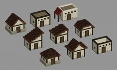 Minecraft Roof, Plans Minecraft, Construction Minecraft, Casa Medieval Minecraft, Minecraft Building Guide, Easy Minecraft Houses, Minecraft Houses Blueprints, Amazing Minecraft, Minecraft Tutorial