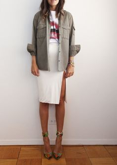 #Pencil Skirt Leather-look White styleJust in at Uhlalaland Etsy...