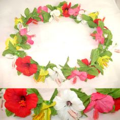 HIBISCUS Tropical HAWAIIAN LUAU PARTY FLOWERS GARLAND $1 sorry this item is SOLD, we sell more products at http://www.tropicalfeel.com