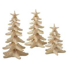 Beachy decor -  Starfish Trees (Set of 6)