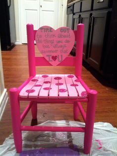 Time Out Chair by CourtneyNguyen1 on Etsy, $55.00 | beautiful girly time out chair