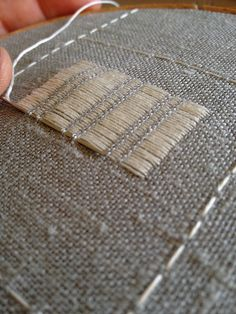 Pattern Darning Sampler - first stitches