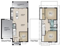 With room to live and play, the cleverly designed Moyne takes maximum advantage of a small lot width. This compact double storey design has all the elements of open plan living, integrated with an Alfresco for an outdoor lifestyle.The upper floor has a Master Suite and second Bedroom. Ideal as a townhouse or holiday home with a stylish facade.
