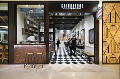 Grindstone Barber & Barista - Shop Fitting Melbourne Joinery Sevices Signature Commercial Construction
