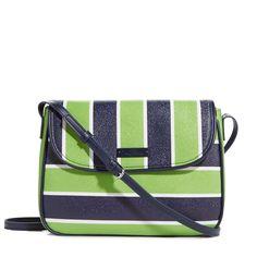 Flap Crossbody in Lucky Stripe, $88 | Vera Bradley