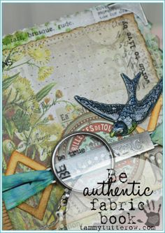 Tammy Tutterow | Be Authentic Fabric Ruler Book featuring NEW Tim Holtz Idea-ology.