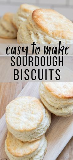 Easy and Delicious Flakey Biscuits Using Sourdough Discard - Twelve On Main Flakey Biscuits, Sourdough Biscuits, Sourdough Recipes, Easy Bread Recipes, Donut Recipes, Cooking Recipes, Starter Recipes, Sourdough Starter Discard Recipe, Bread Starter