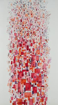 Edna Andrade, Parade, 1959 watercolor on paper