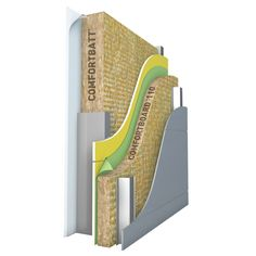 COMFORTBOARD™ 110 is a rigid, high density, non-combustible, stone wool insulation board designed for use as an exterior continuous insulation...