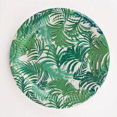 Assiettes tropicales / décoration anniversaire tropical / Jungle decoration party