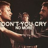 """This scene still makes me angry. It might as well have been John coming back to say """"oh, and in case you're wondering, boys, Dean was always my favorite, I do love him more, and even dying doesn't make me fonder of Sam."""" Yet another reason I loathe John Winchester."""