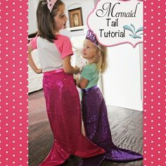 a little of this, a little of that: Mermaid Tail {Tutorial} Diy Mermaid Tail, Mermaid Tail Pattern, Mermaid Tails For Kids, Mermaid Mermaid, Vintage Mermaid, Little Mermaid Dresses, Little Mermaid Parties, The Little Mermaid, Mermaid Theme Birthday