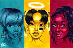 'T-Boz, Left Eye, and Chilli a.k.a. TLC' by Nuri Durr