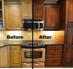 Restaining kitchen cabinets kitchen cabinet carrie kitchen cabs pinterest oak cabinets - Factory seconds kitchen cabinets ...