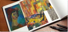One of the two pioneering movements of German Expressionism, Der Blaue Reiter was an spiritual and abstract counterpart to Die Brücke's distorted figurative style.