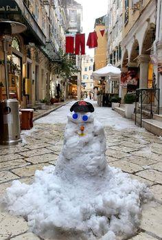 Corfu Greece, Island, Snow, Paradise, Christmas, Xmas, Islands, Navidad, Noel