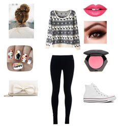 """""""Christmas outfit"""" by mckaylahooks on Polyvore featuring NIKE, Converse, RED Valentino, Nail Pop, Fiebiger and H&M"""