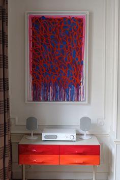 Jonone painting with Raymond Loewy's commode